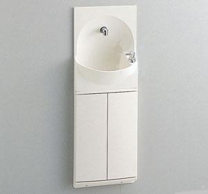 送料無料!TOTO 手洗い器付きキャビネット 埋込式 YSC46SX #NW1 扉カラー:ホワイト ハンドル式水栓