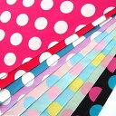 ドットプリント(3cmドット) ブロード生地 全10色 約110cm幅 10cm単位販売 水玉 ドット コインドット スカート ワンピース 布 コットン 綿 ベーシック シンプル ハンドメイド 手芸 手作り