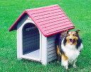【屋外用プラスチック製犬舎】アイリスオーヤマボブハウスLグリーン/ストーンベージュ ...
