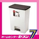 R防臭 エバンワイドペダル45 (ブラウン) ゴミ箱 アスベル ASVEL [45L ペダル式ゴミ箱 ごみ箱 ダストボックス フタあり キッ...