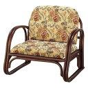 萩原 楽々座椅子 RZ-739L 幅55×奥行54×高さ53×座面高23cm
