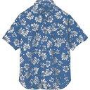 ショッピングアロハシャツ ■アイトス ボタンダウンアロハシャツ(ハワイの夜)(男女兼用) ブルー SS  〔品番_56109-006-SS〕【1430066_0】[送料別途見積り][法人・事業所限定][掲外取寄]