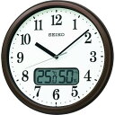 """ショッピング掛け時計 ■SEIKO 電波掛時計 """"KX244B"""" (温度湿度表示付き)〔品番:KX244B〕【1589154_0】"""