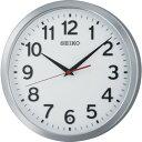ショッピング電波 ■SEIKO 電波掛時計 直径305×46 金属枠 アルミ光沢〔品番:KX227S〕【8666726_0】[送料別途見積り][法人・事業所限定][掲外取寄]