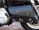 【サドルバッグ】La Rosa Design 本革スイングアームバッグL ブラック  HARLEY ハーレー