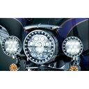 【KURYAKYN/クリアキン】7748 LEDパッシングライトHALO トリムリング 4-1/2インチ