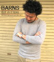 BARNS バーンズ ワッフル7分袖クルーTシャツ 3colors(BR-4206) SS13MTT 七分 七分袖 七分Tシャツ ワッフル 無地 シンプル カジュアル メンズ インナー fs04gm