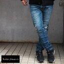 Nudie Jeans ヌーディージーンズ デニムパンツ LEAN DEAN 44161-1125 メンズ デニム リーンディン ジーンズ パンツ ダメージ denim jeans ヌーディー NudieJeans 加工 クラッシュ ダメージ加工 クラッシュ加工 インディゴ ブルー リペア