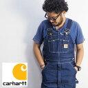 carhartt カーハート DENIM BIB OVERALL CRHTT-R08 オーバーオール メンズ つなぎ オールインワン ツナギ ワーク デニム 生地 アメカジ カジュアル エンジニア 大きい 大きいサイズ 大きめ ヴィンテージ パンツ ロングパンツ
