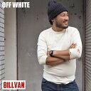 BILLVAN ビルバン スパンフライス 七分袖Tシャツ DH-80020 メンズ カットソー アメカジ 七分 tシャツ 七分袖 重ね着 インナー 伸縮 レイヤー 無地 シンプル ネイビー グレー ブラック ホワイト 紺 黒 白