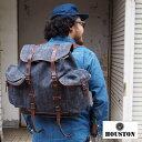 ショッピングアウトドア HOUSTON ヒューストン LINEN RUCK SACK 6563 リュック リュックサック 大容量 メンズ レディース アウトドア キャンプ 旅行 ミリタリー バッグ 鞄 bag バックパック バッグバック デイパック デイバッグ