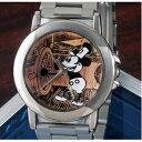 【クーポン獲得】【ポイント10倍】【3000円以上送料無料】オールドミッキー高級牛革チェンジベルト付き腕時計 2個セット