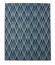 イケヒココーポレーション エジプト製 ウィルトン織り カーペット オルメ RUG ブルー 約80×140cm - イケヒココーポレーション