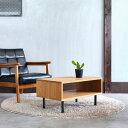 【月間優良ショップ】ローテーブル アイアン×オーク材 幅70cm 木製 無垢材 収納 日本製 センターテーブル リビングテーブル送料無料