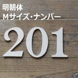木製 ナンバー・明朝体・Sサイズ『0〜9』(高さ12cm基準) [moji25]