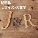 木製 アルファベット 明朝体・Lサイズ(高さ17.5cm基準)・大文字 [メール便で送料無料!] アルファベット オブジェ 雑貨 インテリア 置物 結婚式 ウエルカムボード 切り文字 表札 看板