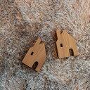 えんとつのおうち [メール便で送料無料!] 北欧 雑貨 クリスマス 置物 オブジェ インテリア 木製 ハウス