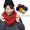 ポンポンスヌードレディース/小物/スヌード/ポコポコ編み/秋/冬