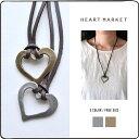 【5,000円(税抜)以上で送料無料】 オープンハートネックレス【HEART MARKET・ハートマーケット】