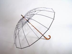 選べるプレゼント付♪送料無料【かてーる16 透明傘】世界で初めてビニール傘を開発したメーカーがたどり着いた透明傘が進化!ホワイトローズ社 かて~る16 より強くを求め骨を16本にしました!急いで