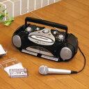 送料無料【ラジオ・ダブルカセットプレーヤー/レコーダー DCR-908】テープユーザーにうれしい機能満載のダブルラジカセ!お手持ちのマイクでカラオケを!