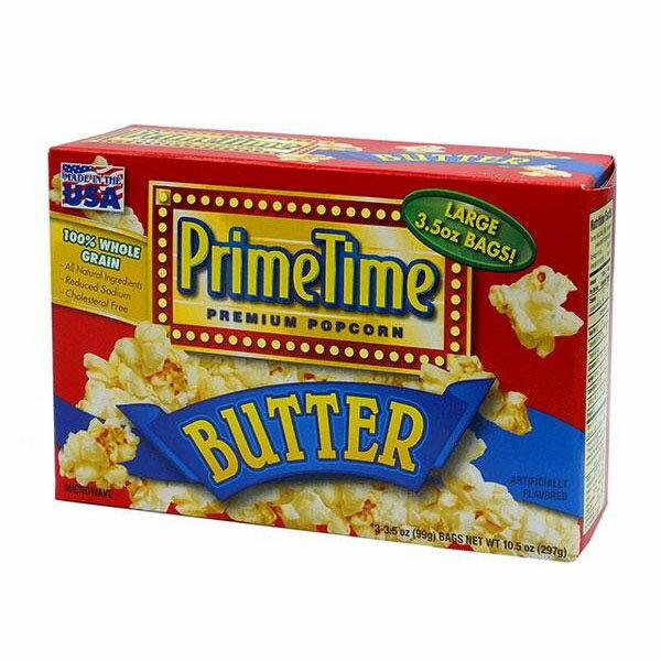 【直送品】【代引き不可】434-012 プライムタイム (PrimeTime) マイクロウェーブポップコーン バター 99g 3P×12箱セットご注文後3〜4営業日後の出荷となります