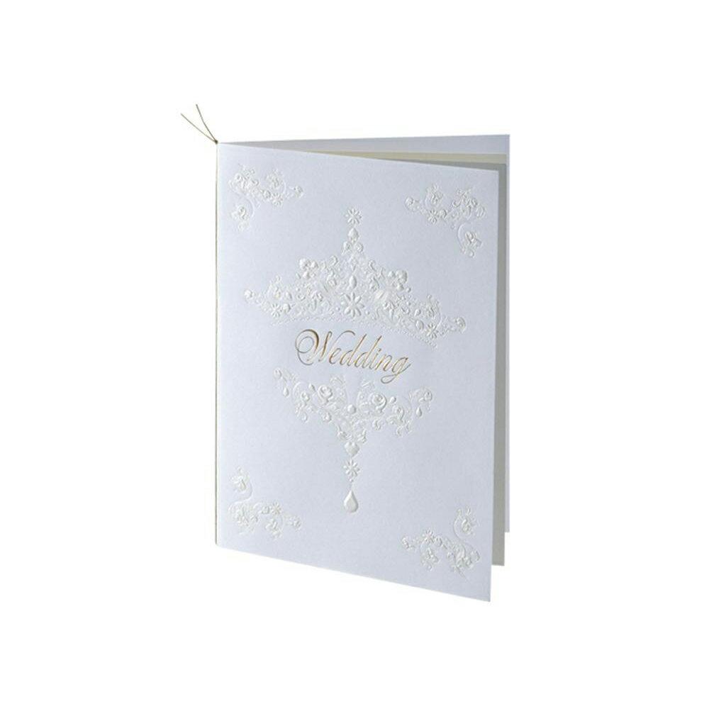 【直送品】【代引き不可】Hallmark ホールマーク ウエディングコレクション ホワイトティアラ 席次表セット 10名様用 EWD-543-051ご注文後3〜4営業日後の出荷となります