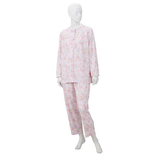 【直送品・代引不可】きほんのパジャマ(寝巻き) 【婦人用 S】 綿100% マジックテープ付き ズボン/前開き (介護用品) ピンク