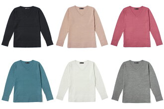 And Isetan Mitsukoshi collaboration products V neck long sleeve knit