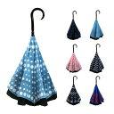 ショッピング傘立て 傘 さかさま傘 手開き 自立 濡れにくい 傘立て不要 60 cm