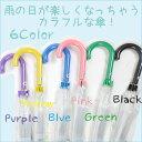 【あす楽対応】6色カラーカラフルジャンプ透明傘 /可愛い/クリアー/【02P03Dec16】