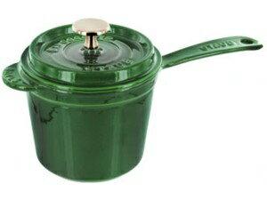 Staub ストウブ 14cm ソースパン 1.2リットル片手鍋 (エメラルドグリーン) 1.25QT