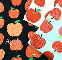 びっくり価格 Apple/アップル生地/布/綿/オックス/通園バック/りんご/入園入学/マスク/スモック