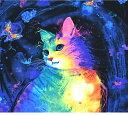 【パネル販売】USAコットン/timeless treasures/Fantastic cat/1パネル約58cm/猫/蝶/cat/コットン100%/生地/布
