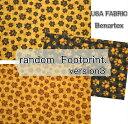 楽天fabric-store heartsewing猫好き集まれ!USA FABRIC Benartex/[Ver3ランダムフットプリント]/生地/布/綿/猫柄/ネコ/ねこ/USAコットン/肉球/DOG/犬