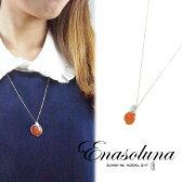 Enasoluna(エナソルーナ) Beautiful Earth necklace カーネリアン【NK-780】K10 10金 ネックレス イエローゴールド ラリマール ゴールド 天然石 アース