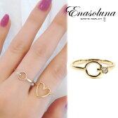 Enasoluna(エナソルーナ)'In a secret ring'【RG-1073】K10 10金 ダイヤモンド イエローゴールド リング ダイヤ ダイア 一粒 8号 11号