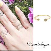 Enasoluna(エナソルーナ) Twin dia ring 【RG-962】K10 10金 Diamond 0.04ct ダイアモンド ダイヤモンド ピンキーリング ファランジリング 関節リング リング 指輪 イエローゴールド ゴールド 3号