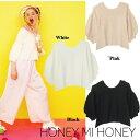Honey mi Honey (ハニーミーハニー)オフショルダーニット 16春夏.【16S-AN-19】