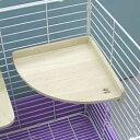 コーナーステージ 大/ケージ 遊び場 ステップ 足場 木製 小動物 リス モモンガ チンチラ デグー さる