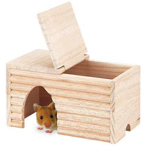 ゴールデンののぞいて安心ハウス/お家 寝床 隠れ家 木製 ハムスター デグー マルカン MARUKAN PRO STYLE CASA