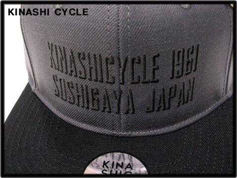 グレー/ブラック 【木梨サイクル キナシサイクル スナップバックキャップ(SHADOW) KINASHI CYCLE 木梨憲武 帽子】