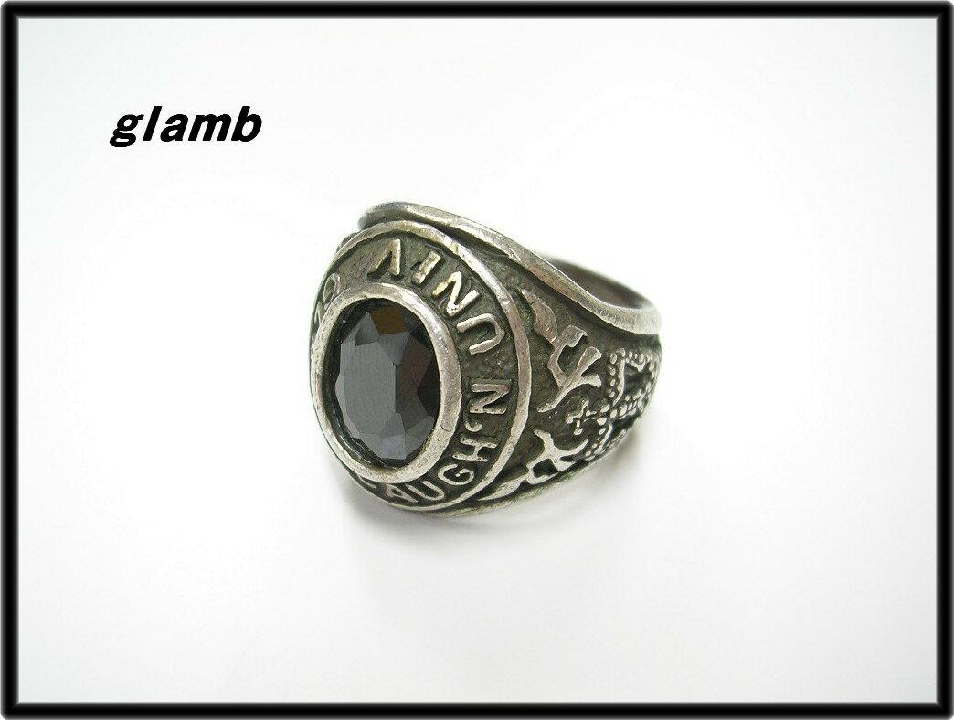 #12 【glamb college RING グラム カレッジ リング 指輪】【中古】