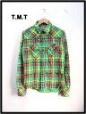 S 【TMT スラブ チェックシャツ】TSH-F0901S