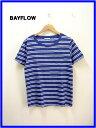 M 【BAYFLOW [ベイフロー] インディゴボーダーTシャツ】