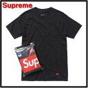 M 黒 Black x 3枚セット【Supreme [シュプリーム] x Hanes [ヘインズ] Tagless T-Shirts (3-Pack) Tシャツ】