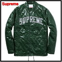 M Green【Supreme [シュプリーム] Quilted Coaches Jacket コーチ ジャケット】