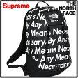 2015 F/W 黒 BLACK 【Supreme [シュプリーム] THE NORTH FACE [ノースフェイス] The North Face Base Camp Crimp Backpack バックパック バッグ リュック】