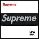 Black 黒【Supreme x New Era 16AW Reflective Logo Headband シュプリーム ロゴ ヘアバンド ヘッドバンド】