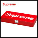 2017SS Red【Supreme Large Metal Storage Box シュプリーム ラージ メタル ストレージボックス】